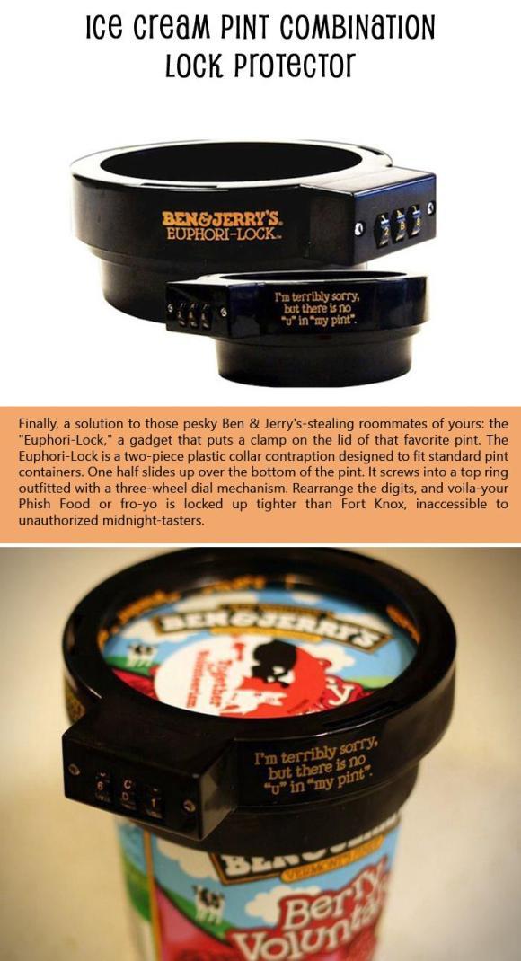 Ice Cream Pint Combination Lock Protector