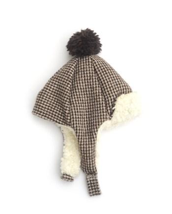muts van tweed jasje voering katoenfleece