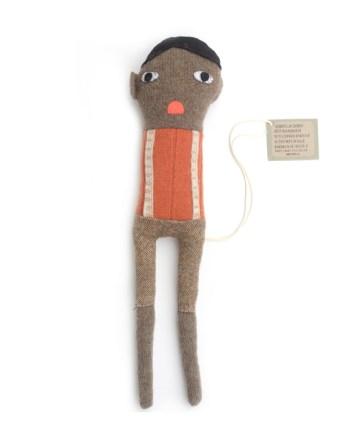 skinny boy lappenpop oranje trui