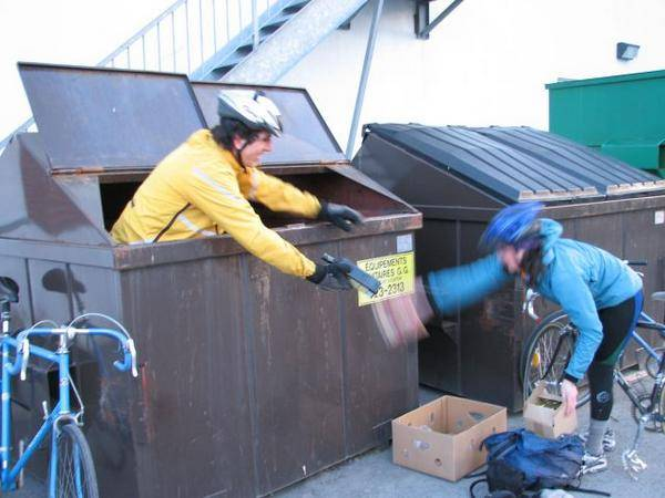 Canada_Julian and Heather dumpster diving wine