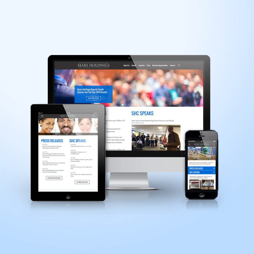Sears Holdings corporate site responsive design