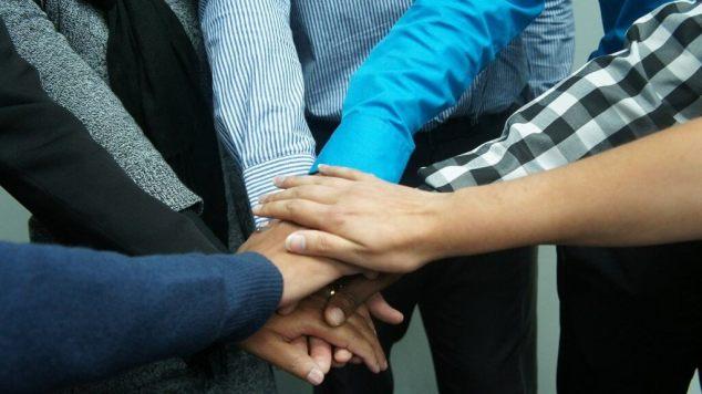 Personography - Team work hands
