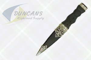 Silver Morar Sgian Dubh with Stone Top