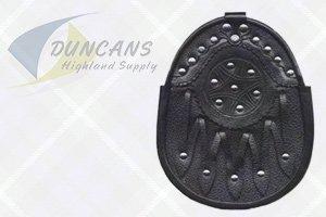 Economy Leather Studded Sporran
