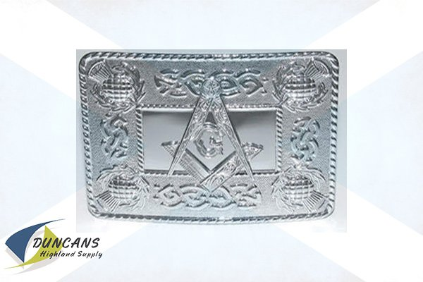 Masonic Celtic Thistle Buckle - Chrome