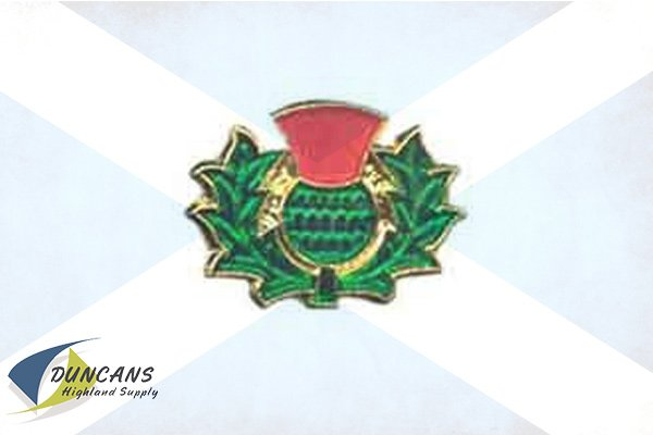 Thistle Painted Lapel Pin