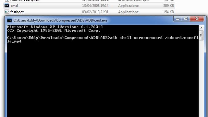 Cmd android registrazione