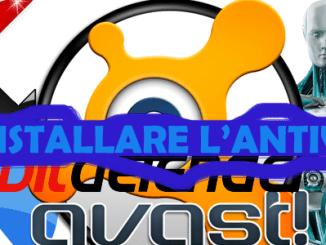 Disinstallare antivirus