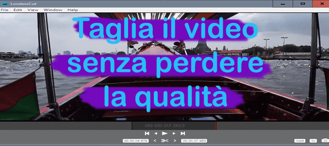 Tagliare video senza perdita di qualità