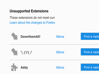 Find a replacement firefox
