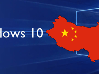 Windows 10 cina