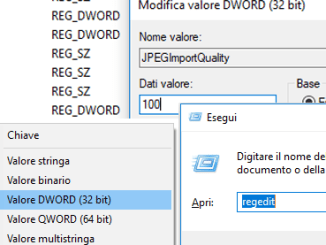 Come disattivare la compressione dello sfondo in windows 10