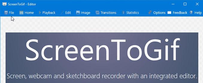 Screentogif registra il monitor nel formato gif