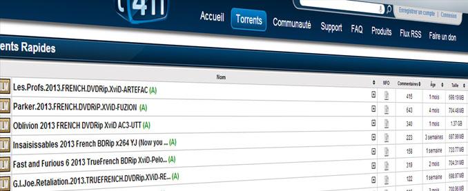 T411 chiuso il sito torrent più visitato in francia