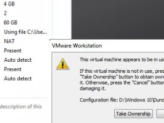 This virtual machine appears to be in use