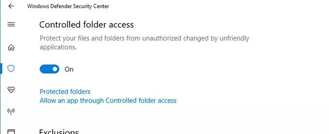 Windows 10 a breve nasconderai i file importanti dal ransomware