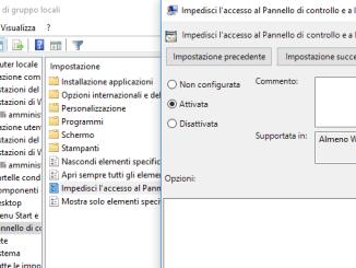 Come abilitare o disabilitare le impostazioni in windows 10