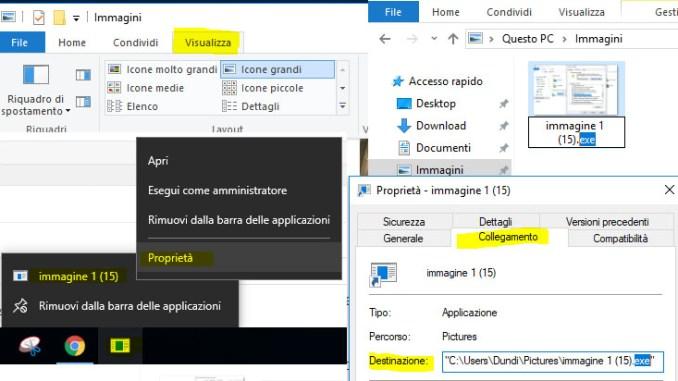 Come aggiungere qualsiasi file alla barra delle applicazioni