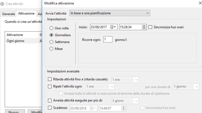 Come creare un punto di ripristino pianificato in windows 10