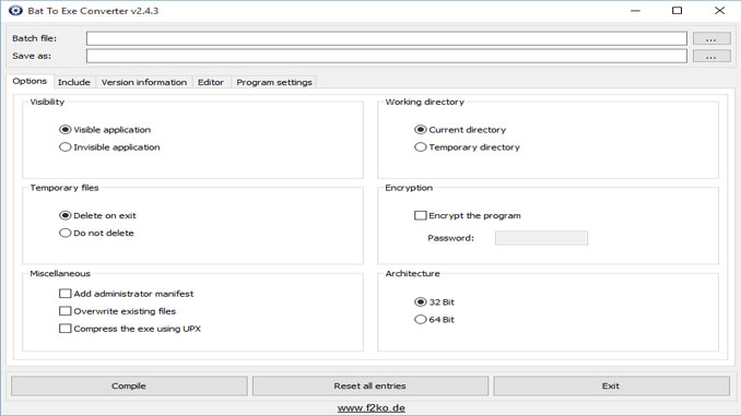 Come convertire file bat in exe in windows
