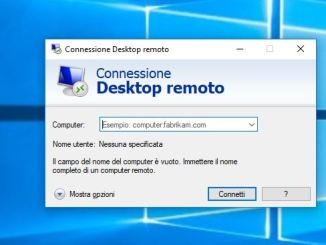 Connessione desktop remoto