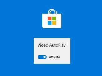 Come disattivare la riproduzione automatica del video in microsoft store