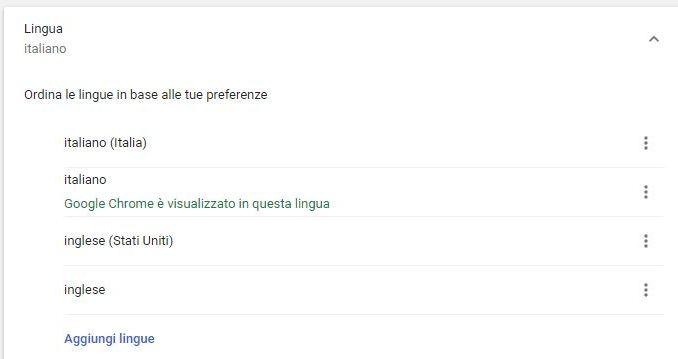 Come cambiare la lingue su google chrome