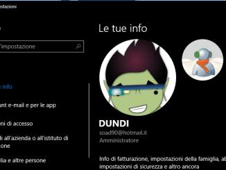 Come sostituire immagine dell account utente in windows 10