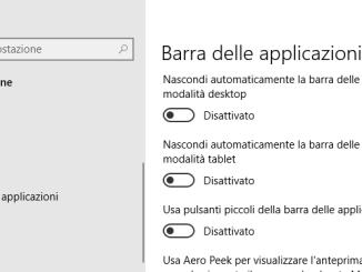 Come nascondere la barra delle applicazioni in windows 10