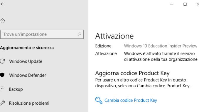 Windows 10 attivo ma chiede ativazione