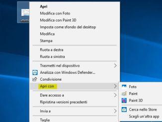 Windows 10 apri con non funziona menu contestuale