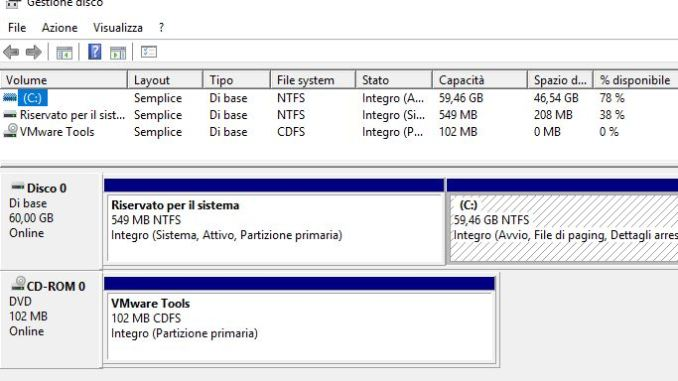 Come estendere la partizione in windows