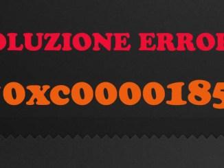Windows errore 0xc0000185 quando avvio il pc