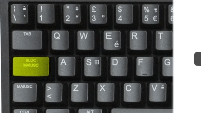 Come disabilitare il tasto bloc maiusc in windows 10