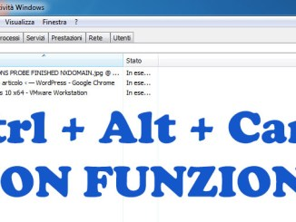 Ctrl alt canc non funziona in windows 10
