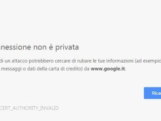 Come risolvere la connessione non e privata google chrome