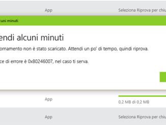 Come risolvere errore 0x80246007 quando scarico aggiornamenti in windows 10