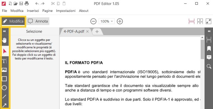 Come modificare documento pdf senza adobe acrobat pro