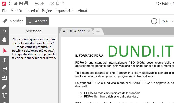 Pdf modificare testo