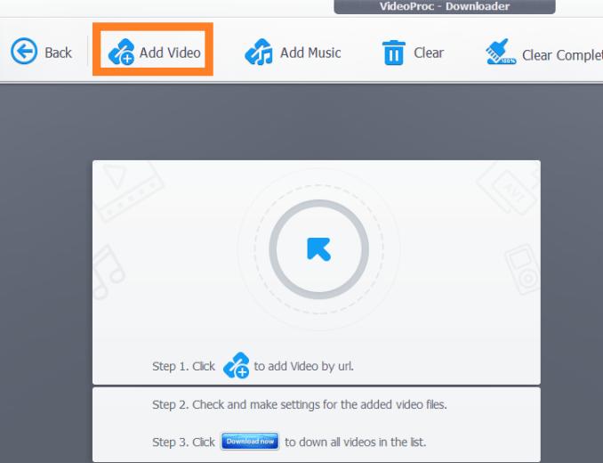 Videoproc scaricare video