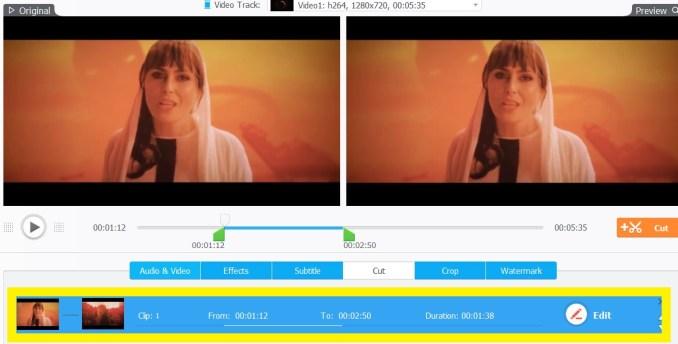 Tagliare video in diversi parti in windows