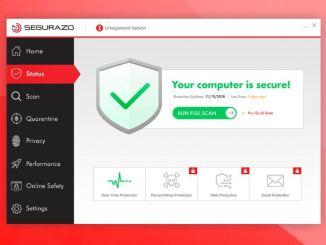 Come rimuovere segurazo antivirus