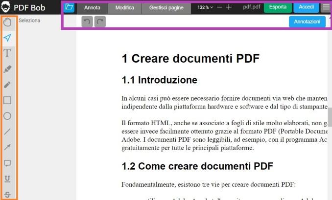 Pdf bob modificare documento online