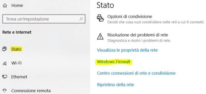 Come eseguire il backup del firewall in windows 10