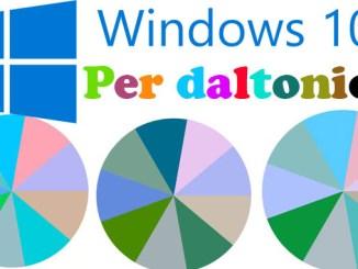 Windows 10 per daltonici come abilitare i filtri colore