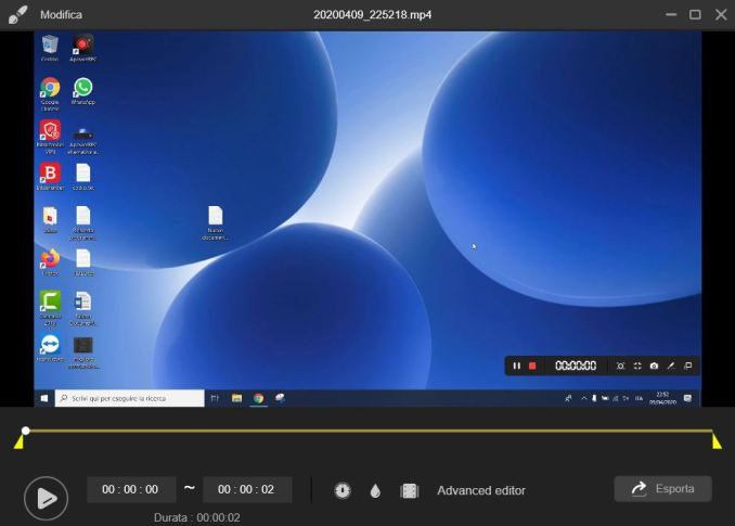 Come modificare il video in apowerrec