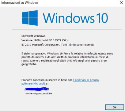 Quale versione di windows 10 ho