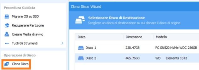Come clonare hard disk e spostare su ssd