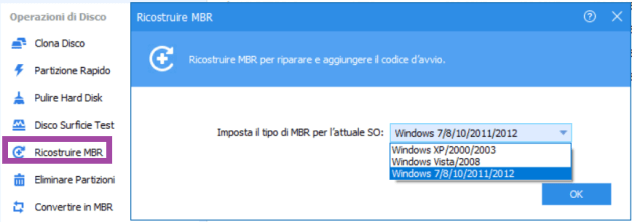 Come ripristinare mbr su windows
