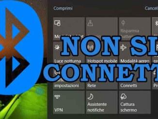 Impossibile inviare o ricevere file via bluetooth su windows 10